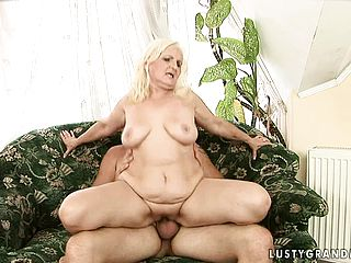 Lusty ash blonde damsel wants to juggle on this hunky folks piston