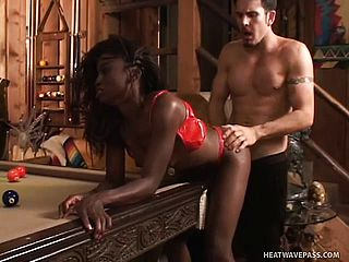 Chocolate pornography adult movie star Monique luvs degrading gonzo ass fucking
