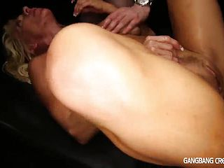 Fantastic huge titted expert woman Gina West featuring steamy gang porno vid