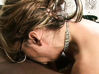 Kelly Leigh gives into seduction and gets a harsh ass-slamming