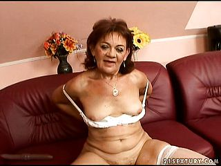 Wild mature Marsha peels off her undergarments and gets pulverized in Point of view